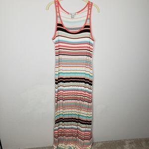 $5 sale American Rag striped maxi dress L
